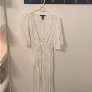 White maxi dress/ beach coverup